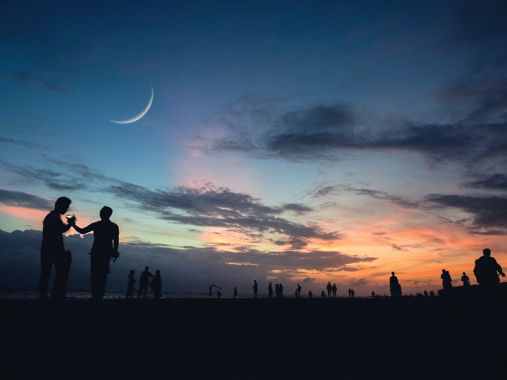 Waxing Moon At Sunrise, Signals end of Maha Shiva Ratri. In 2018 it was on February 14th.