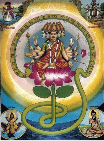 Sri Gayatri MAtA by Raja Ravi Verma Source Wikipedia