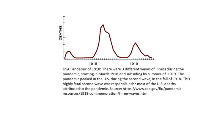 Pandemic of 1918 Three Waves